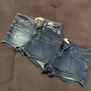 Pants - TWO pairs of denim shorts